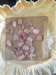Rose Quartz Egyptian Throwing Stones